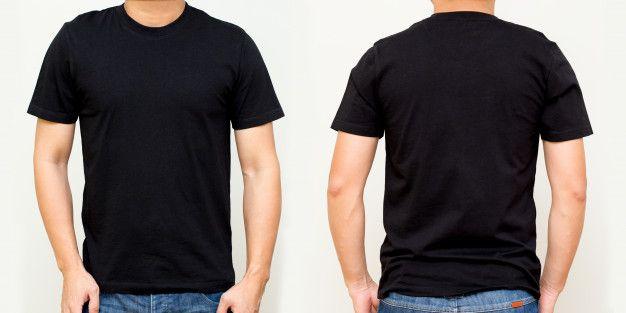 Download Kaos Hitam Depan Dan Belakang Mock Up Template Untuk Desain Cetak Premium Photo Premium Photo Freepik P Blank T Shirts T Shirt Png T Shirt Design Template