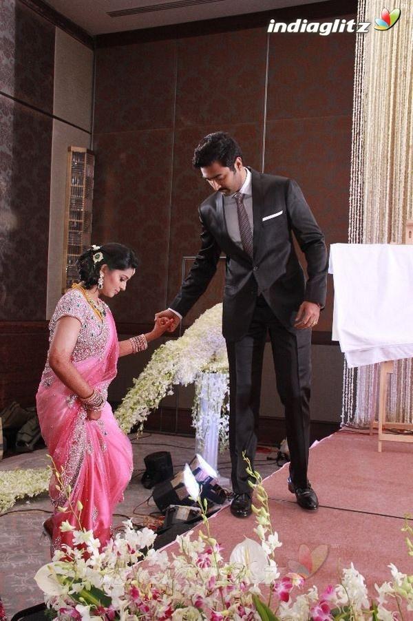 Celebs @ Sneha  Prasanna Wedding Reception