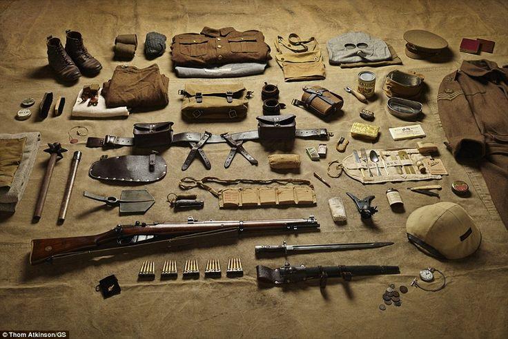 Infantryman's load during WWI.