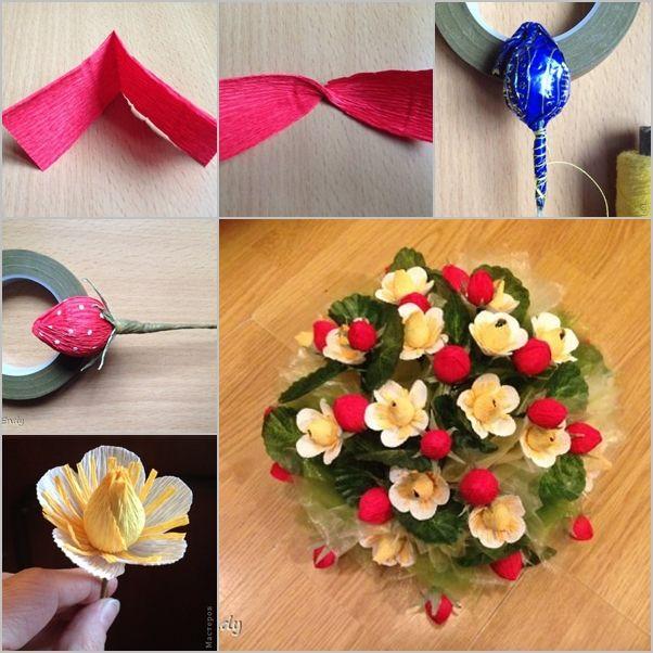 DIY Chocolate Paper Flower Bouquet