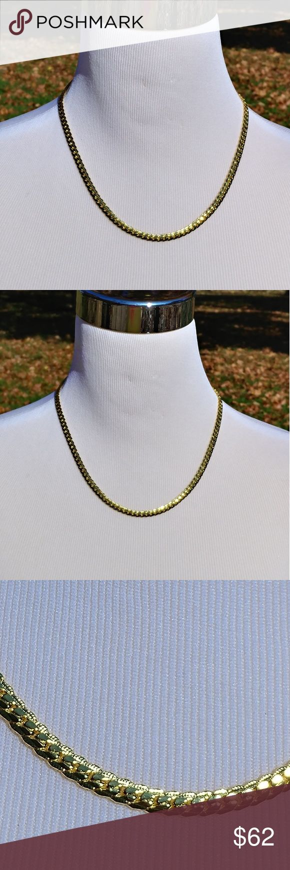 20 inch 18K gold plated necklace Gorgeous unisex 18 karat yellow gold plated snake chain necklace Accessories Jewelry