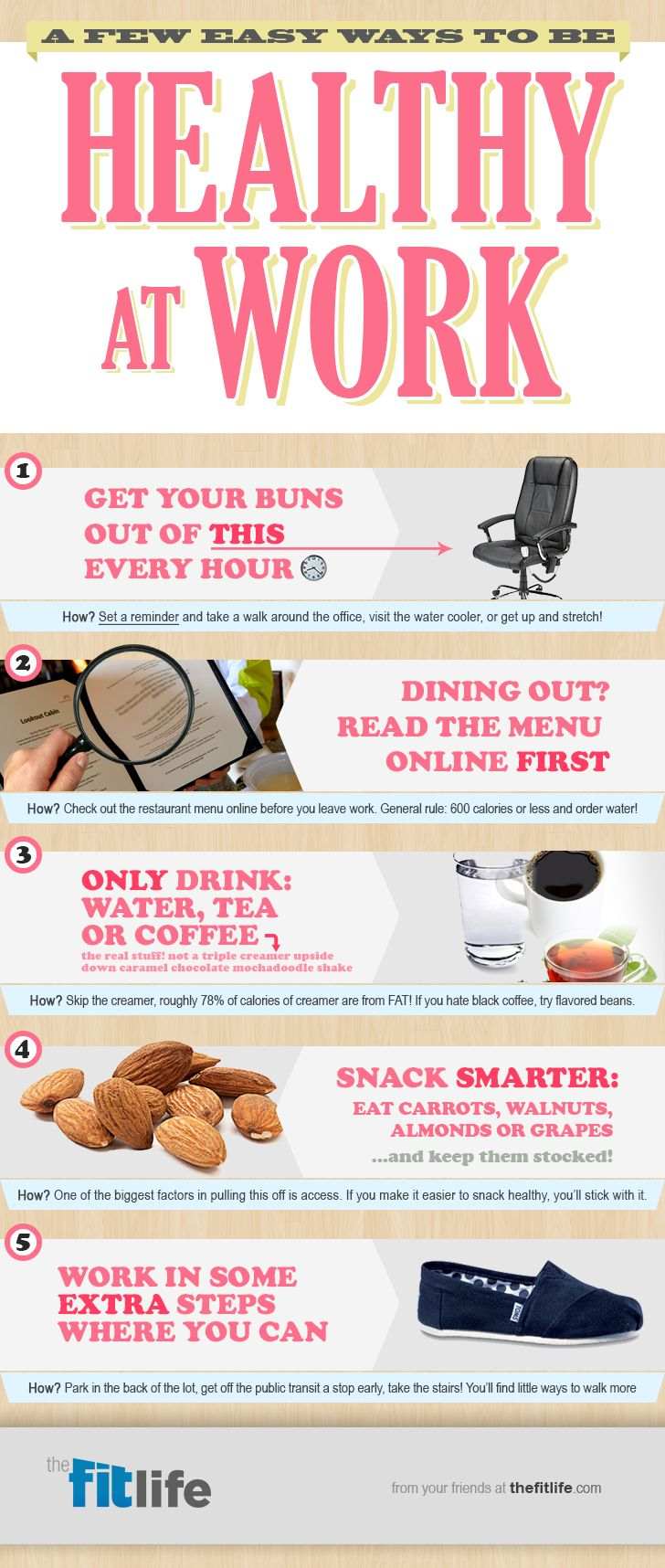 Think you can't get healthy at work? Think again with