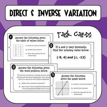8 best images about math direct and inverse variation on pinterest. Black Bedroom Furniture Sets. Home Design Ideas