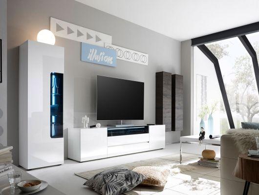 Die besten 25+ Wohnwand weiss Ideen auf Pinterest Fußböden - wohnwand wei modern