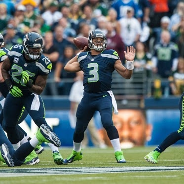 Seattle SeahawksYesterday  The preseason schedule has arrived!  Week 1 at San Diego +Chargers Week 2 vs +Denver Broncos  Week 3 at +Green Bay Packers  Week 4 vs +Oakland Raiders