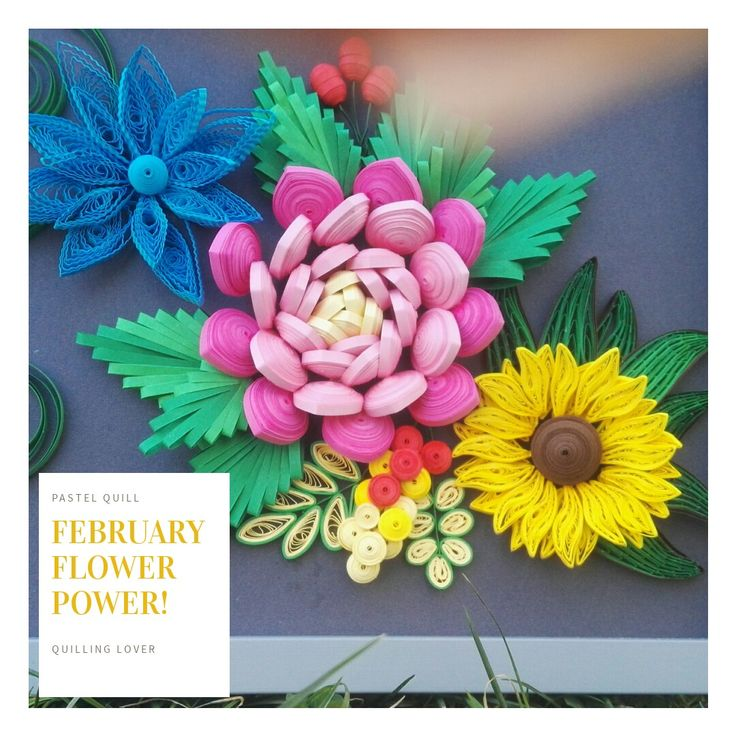 #Quilling flowers #colors #spring #flowerpower