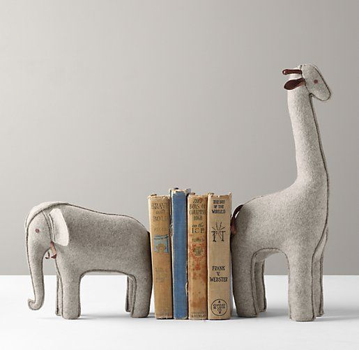 Wool Felt Animal Bookend Set of 2 | Accessories | Restoration Hardware Baby & Child