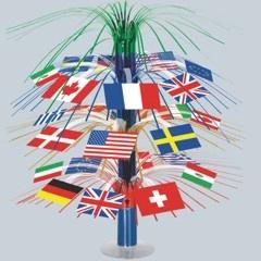 International Flag Cascade Centerpiece from Windy City Novelties