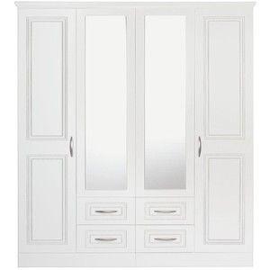 Consort Dorchester 4-Door, 4-Drawer Mirrored Wardrobe