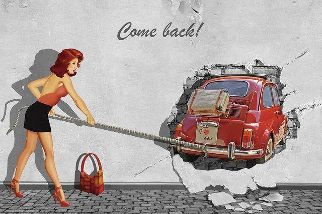 Wandfolie »Mausopardia: Komm zurück«