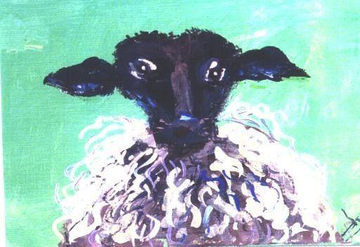 Baaaa. ACEO WOOLY BULLY miniature sheep print Jim by jimsmeltzgallery, $3.00