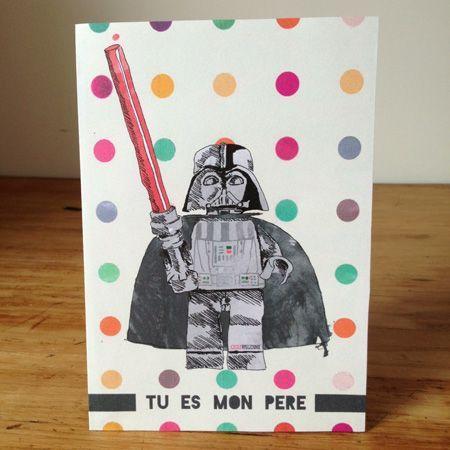 free downloadable Fathers's day card / EN & FR / star wars / you are my father / tu es mon père / guerre des étoiles / carte à imprimer gratuite