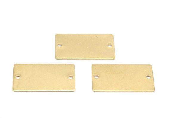 Brass Rectangle Bar 12 Raw Brass Rectangle Stamping Blanks