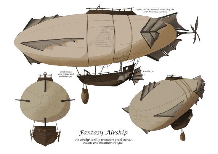images air ship fantasys | airship by djt1992uk digital art drawings paintings fantasy 2011 2014 ...