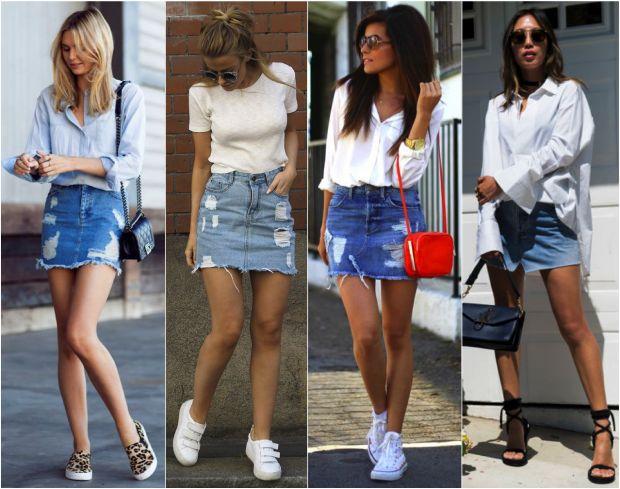 De olho na tendência '00, a volta da sainha jeans da década passada! - Fashionismo
