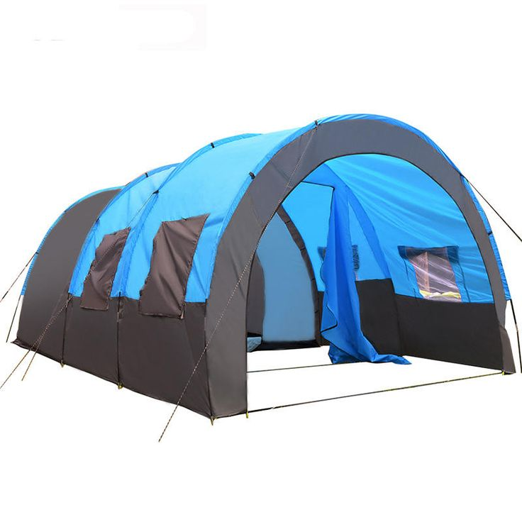 Xmund XD-ET4 8-10 People C&ing Tent Waterproof Tunnel Double Layer Large Family  sc 1 st  Pinterest & Best 25+ Tunnel tent ideas on Pinterest | 20 person tent 10 ...