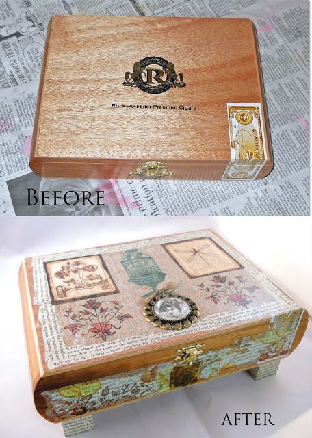 Lovely Fever: Before and After: Altered Cigar Box