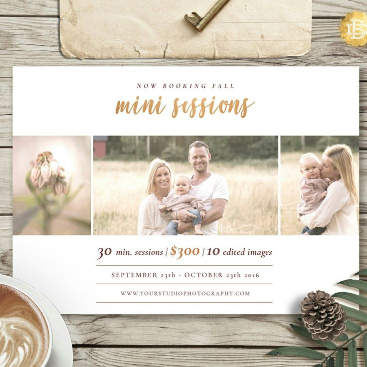 Fall Family Mini Session Template For Photographer Marketing Flyer Holiday