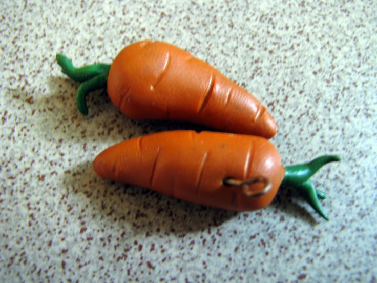 polimer clay carrots earring