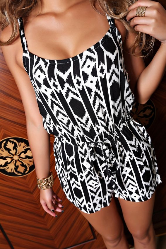 Like this print! Love rompers