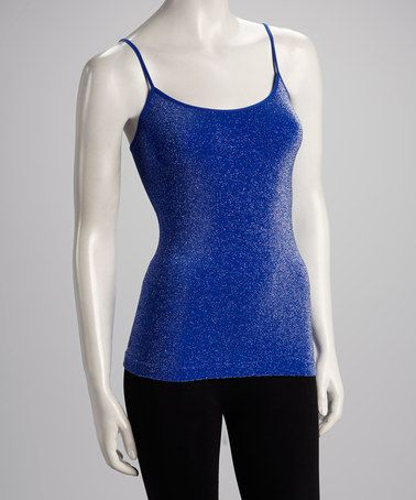 Take a look at this Cobalt Metallic Camisole - Women by Malibu Sugar on #zulily today!