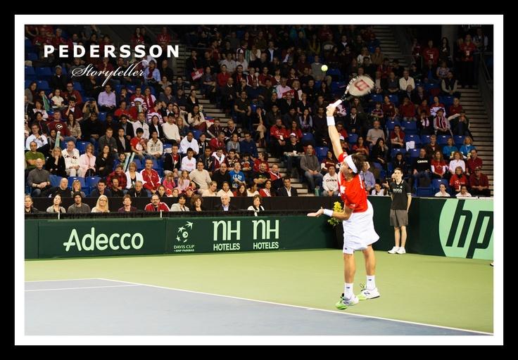 Milos Raonic winning match for Canada at Davis Cup 2013