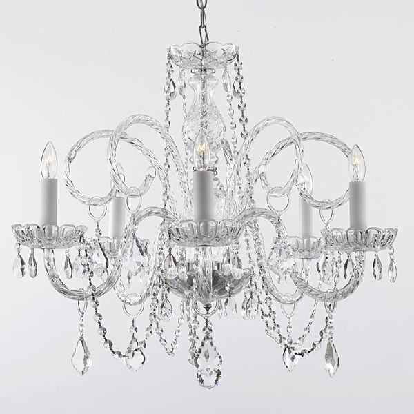 A Breathtaking Chandelier Adorned With Swarovski Crystal That Will  Epitomize Elegance In Your Home. This Light Requires Five Bulbs To Radiate  Light Through ...