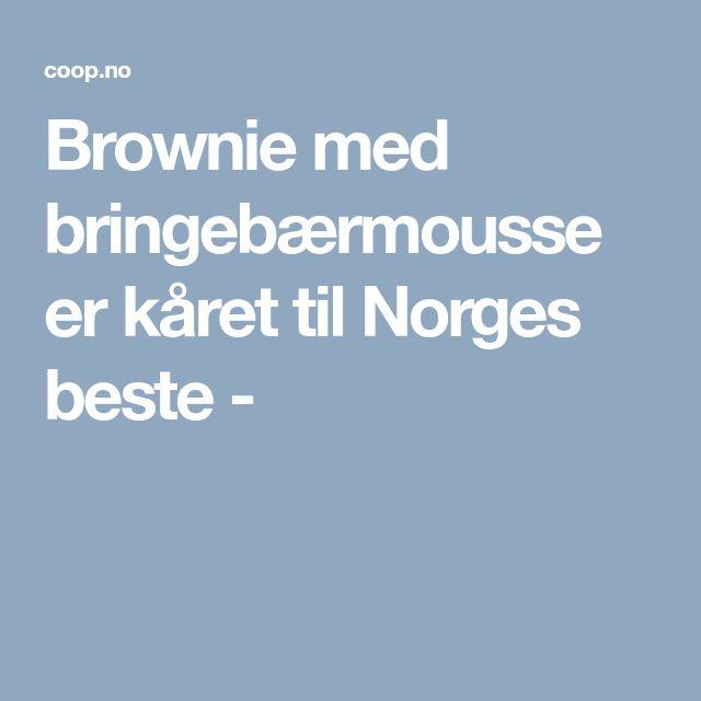 Brownie med bringebærmousse er kåret til Norges beste -