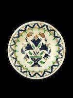 Bonhams : An Iznik pottery Dish Turkey, late 16th Century