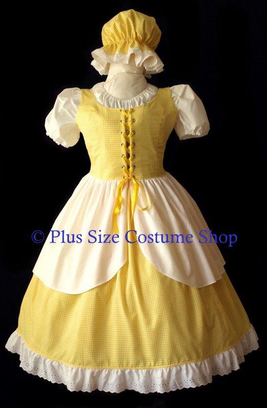 handmade plus size goldilocks halloween costume little miss muffet gown dress