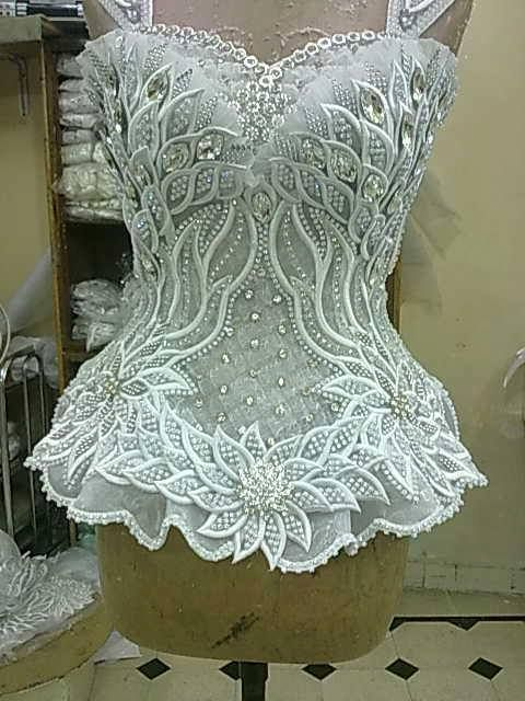 Ok, you'd need a skirt. But this is waaaaay too pretty to leave off. white lace