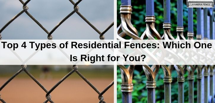 Top 4 Residential Fences Which One Is Right For You Fence Chain Link Fence Installation Fence With Lattice Top