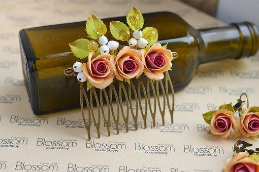Blossom. Полимерная глина. Украшения. Свадьба