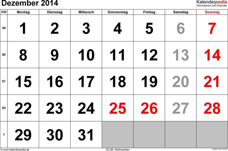 Kalender Dezember 2014-f