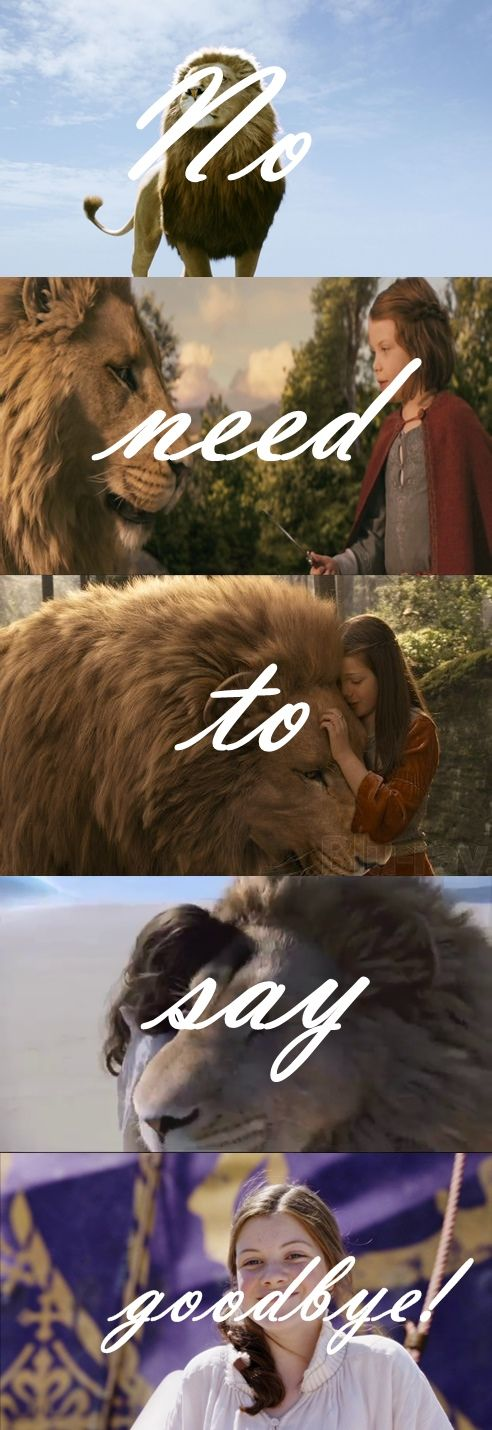 am i the only one who cries at the ends of the Narnia movies?<<<< you're not the only one!!