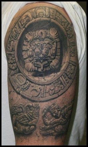 D stone sculpture effect tattoo wow body art