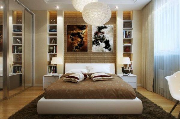Schlafzimmer modern gestalten warm ambiente kleines Zimmer - schlafzimmer modern bilder
