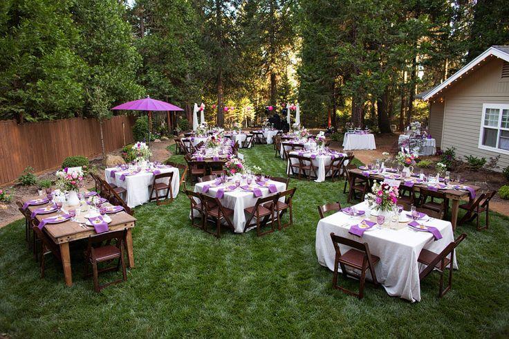 Intimate Rustic Backyard Wedding: Beautiful Backyard Weddings