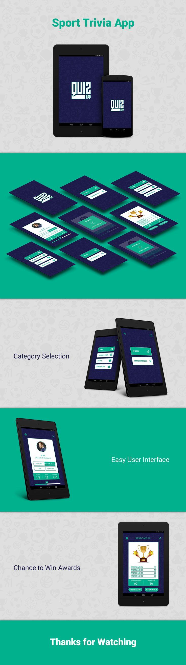 Sports Trivia - Quiz App UI Design on Behance
