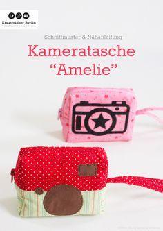 Schnittmuster Kameratasche: http://www.kreativlaborberlin.de/naehanleitungen-schnittmuster/kameratasche-amelie/