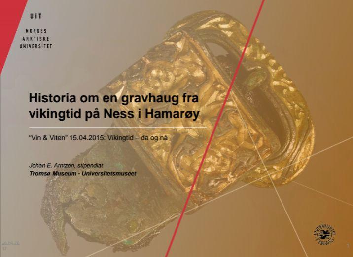Historia om en gravhaug fra vikingtid på Ness i Hamarøy