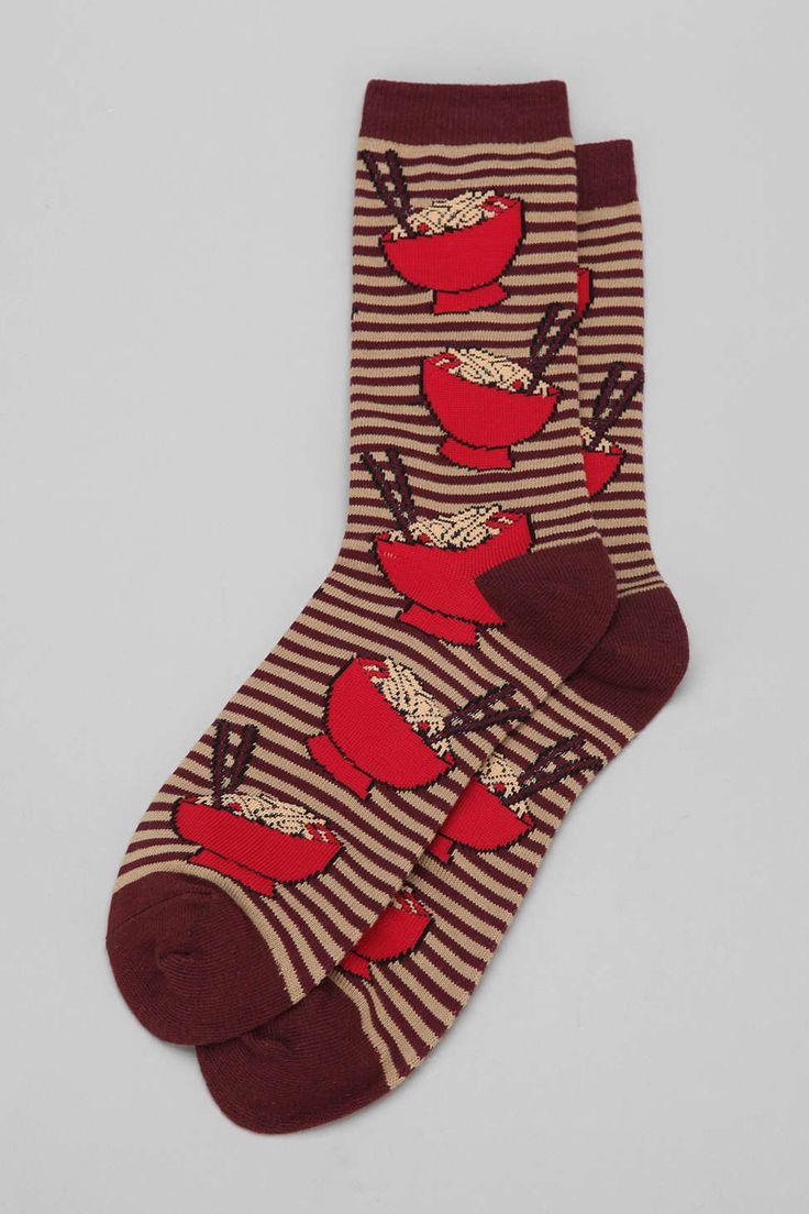 Ramen Sock - Urban Outfitters - char