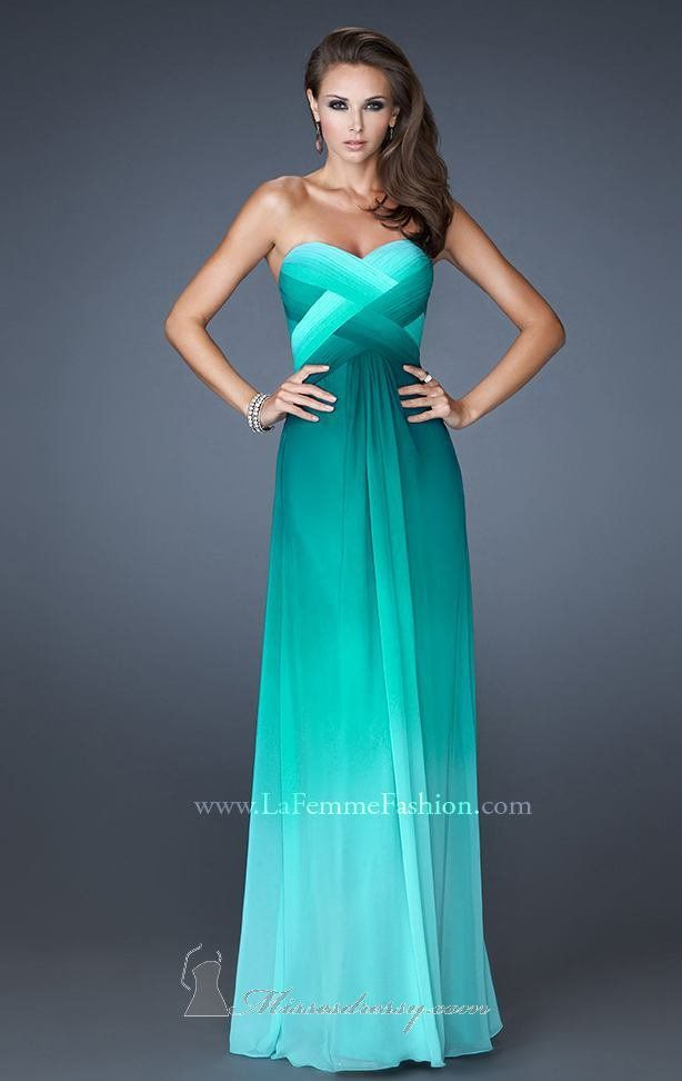 bridesmaid dresses but in a different shade. crisscross middle very pretty