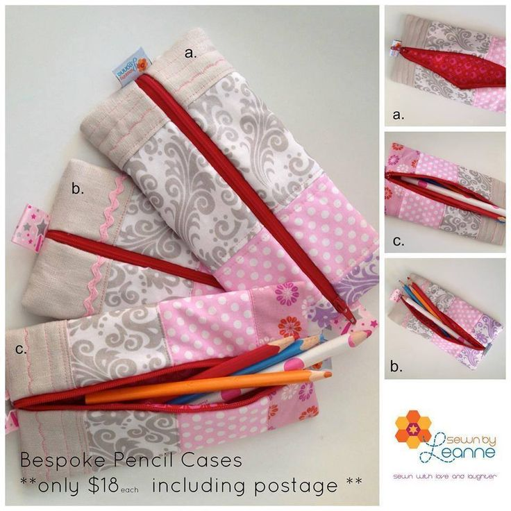 Handmade by Sewn by Leanne Bespoke Pencil Cases