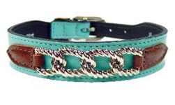 Mayfair Collar in Turquoise & Chocolate