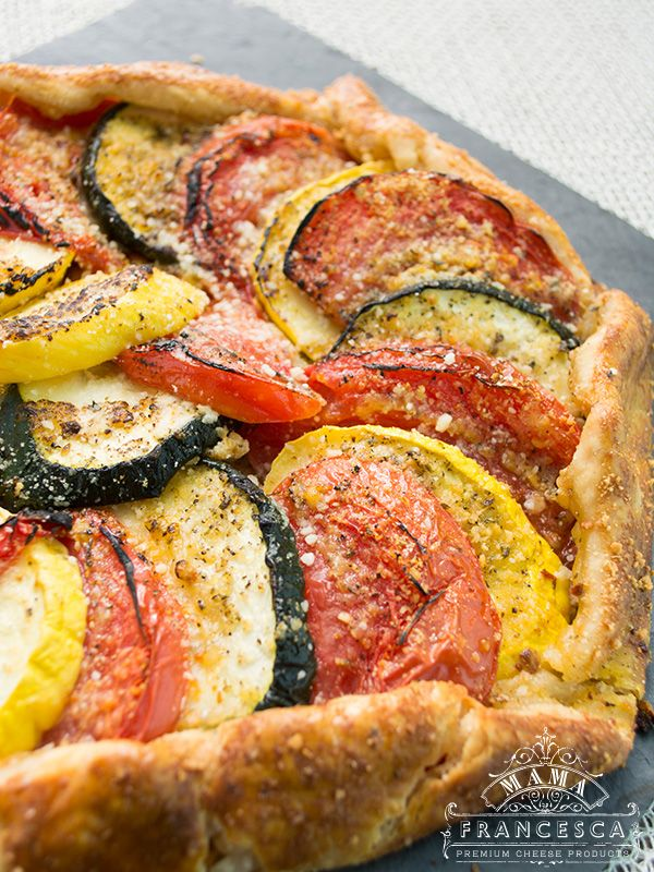 Squash and Tomato Tart | zucchini, goat cheese, & ricotta | entrée ...