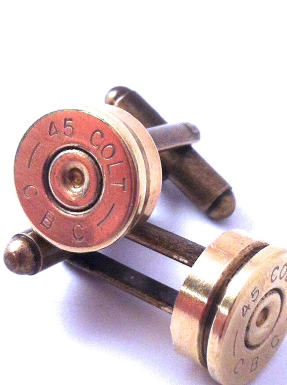 Bullet Colt 45 Cufflinks by fuegodelcorazon on Etsy, $23.00