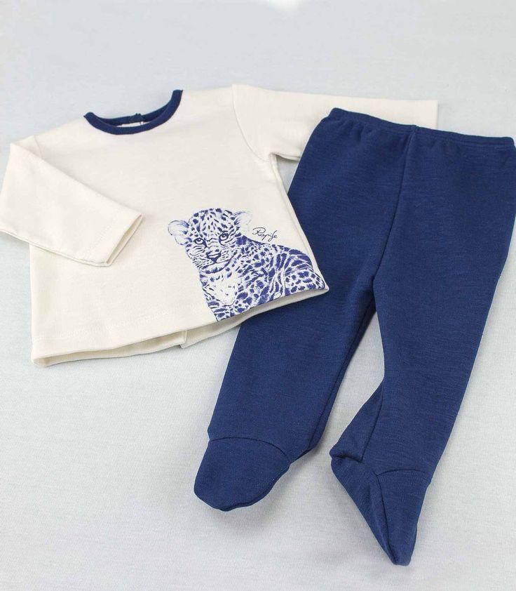 Conjunto dos piezas para bebé de Rapife, 100% algodón y fabricado en España.