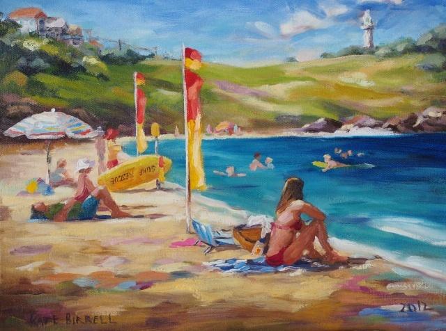 I love the bright colours and the beach scene