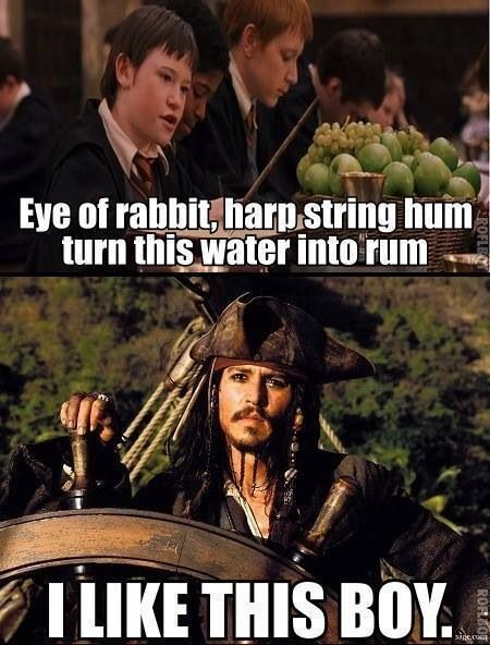 Harry Potter and Johny Depp..2 of my favorite things in the world.  <3